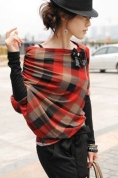 LoLoBu - Women look, Fashion and Style Ideas and Inspiration, Dress and Skirt Look Looks Style, Looks Cool, Style Me, Winter Typ, Mode Glamour, Look Fashion, Womens Fashion, Plaid Fashion, Fashion Design