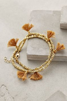 Fluttered Tassel Wrap Bracelet - anthropologie.com