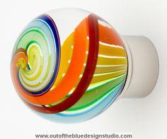 Decorative glass knob