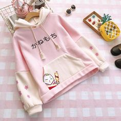 Cute Pastel Hoodie ●Size:M Length chest L Length ●Material:Cotton ●Color:Pink,Blue ●Process time: business days●Shipping time: business days to United States, weeks to other country.●Exchange and Return: Normally, if we ship wrong or bad items, you can ex Harajuku Fashion, Kawaii Fashion, Cute Fashion, Fashion Outfits, Clueless Fashion, Fashion Fashion, Moda Outfits, Pink Outfits, Pullover Hoodie