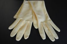 Vintage Yellow Gloves, 1960s, Tea Party by VeroliaBohemia on Etsy