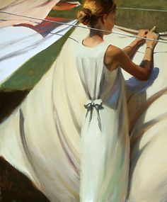 Jeffrey T. Larson - 'Light Winds'  Something so normal and comforting about this painting.  Like it