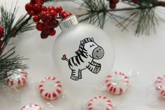 Zebra Baby  Christmas Ornament  Personalized for by BabyGeneration, $10.00