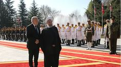 President Hassan Rouhani accorded his Swiss counterpart Johann Schneider-Ammann an official welcome at Saadabad Cultural Complex in Tehran on Saturday.