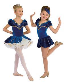Spring Recital costume for Dance I: Ballet and Tap (Kindergarten). Complete with princess tiara!