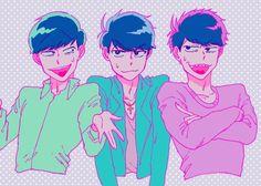 Osomatsu-san- Karamatsu, Choromatsu, and Ichimatsu #Anime「♡」Pastel