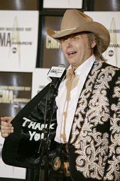 Dwight Yoakam displays his coat in the pressroom at the 41st annual CMA Awards on Nov. 7, 2007.