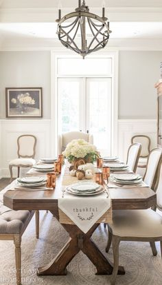 Thanksgiving Place Setting with DIY Napkin Fall Table Settings, Thanksgiving Table Settings, Beautiful Table Settings, Place Settings, Thanksgiving Tablescapes, Thanksgiving Decorations, White Placemats, Thanksgiving Traditions, Thanksgiving 2020