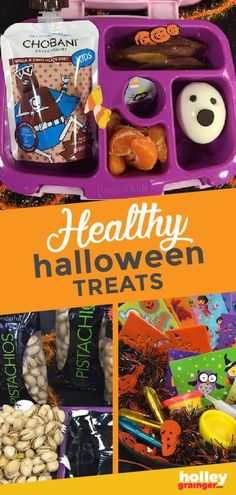 Serve creative, tasty and nutritious treats in your child's lunchbox or at a Halloween party by making these healthy Halloween treats and swaps. I'm sharing my top practical, doable, kid-approved treats and snacks that everyone is sure to love for Halloween. | Holley Grainger - Cleverful Living Healthy Halloween Treats, Halloween Food For Party, Halloween Halloween, Halloween Recipe, Healthy Meals For Kids, Kids Meals, Healthy Snacks, Healthy Recipes, Halloween Activities For Kids