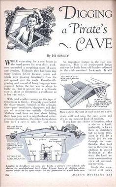 Digging a Pirates Cave (Dec, 1929)