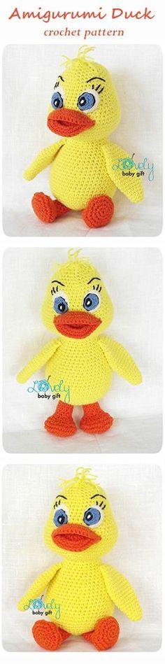 Easter crochet pattern, amigurumi duck, häkelanleitung, haakpatroon, hæklet mønster, modèle crochet