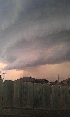Storm clouds over Surrey.