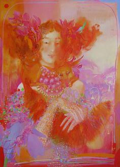 "Saatchi Art Artist Yulia Luchkina; Painting, ""Hand fox. (SOLD)"" #art"