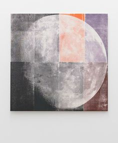 LUKE DOWD  Unfolded Moon, 2011  Acrylic on canvas  83 x 82.5 cm