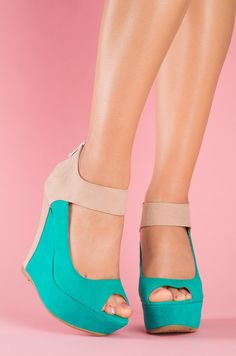 Tiffany and coral wedges