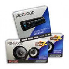 KENWOOD Car Audio Package~1 Pc.) KDC-BT362U + 2 Pairs) KFC-1665S FAST SHIPP