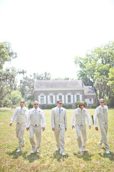 Cream colored linen suits - could be an option