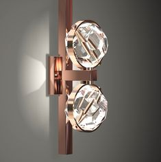 Boules Wall Light 15 x 45 x 17 cm #copper #contemporary #Swarovski crystals #chandeliers #minimalistic #loveit #living #jewellersoflight…