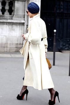 turban + long trench