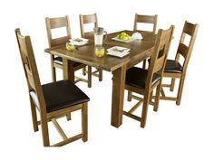 Toulouse Extending Dining Table And 4 Solid Wood Chairs
