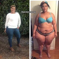antes y después de fotos gordas