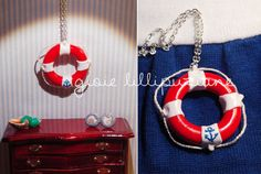 handmade necklace lifesaver    http://sainsgioie.blogspot.it  http://www.facebook.com/GioieLillipuziane