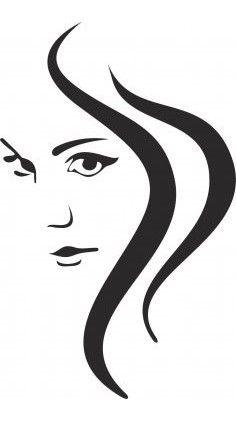 Face and hair vector drawings picturi, șabloane, schiță. Silhouette Art, Woman Silhouette, Hair Vector, Vector Art, Vector File, Scroll Saw Patterns, Stencil Art, Girl Face, Pyrography