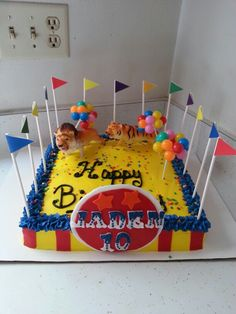Circus Birthday Cake Idea....