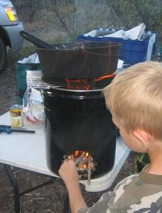 Cooking - Rocket Stove (5 Gallon Bucket)