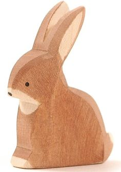 Wooden rabbit, sitting - by Ostheimer (15001) starting at €6,62 (up to €7,60) height: 6cm