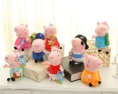 23 cm Freies Verschiffen NEUE Schwein Plüsch Angefülltes Weiches Puppe Kinder Spielzeug Geschenk Für Jungen Und Mädchen GEORGE Schwein
