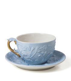 Villari Taormina Teacup Saucer Set available to buy at Harrods.Shop dining online and earn Rewards points. Tea Cup Set, Tea Cup Saucer, Jacks Restaurant, London Food, Tea Accessories, Kitchen Accessories, Porcelain Mugs, Tea Service, China Patterns