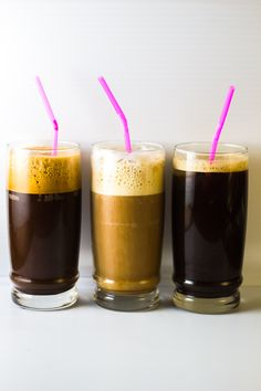 Greek Coffee 3 Ways: Frappe, Freddo Cappuccino & Freddo Espresso - Bon Dia - Kaffee Cappuccino Coffee, Coffee Milk, I Love Coffee, Iced Coffee, Coffee Drinks, Coffee Cups, Coffee Beans, Café Espresso, Espresso At Home
