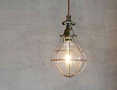 GLOBE ガードペンダントライト ガンメタル ナチュラルインテリア 生活雑貨の通信販売 | ゼネラルストア オルネ Shop Counter, Light Bulb, Bike, Ceiling Lights, Lighting, Pendant, Interior, Home Decor, Lamps
