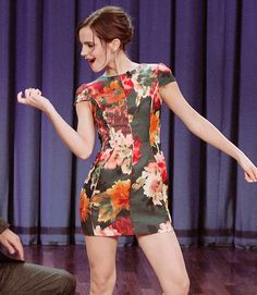 "fiftyshadesen: "" Jimmy Fallon during a skit with Emma Watson on September 13, 2012 """