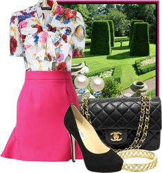 """""""Tea in the Topiary Garden"""" by ssquared on Polyvore"""