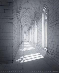 Gothic Castle Interior by AncientKing.deviantart.com on @DeviantArt