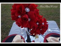 How To: DIY Quick Tip Rose Blossom Wedding Centerpiece - YouTube