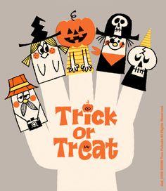 halloween illustration Trick or Treat Retro Halloween, Halloween Poster, Halloween Prints, Halloween Images, Holidays Halloween, Happy Halloween, Halloween Decorations, Vintage Halloween Cards, Halloween Costumes