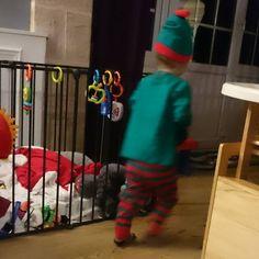 Cutest little Christmas elf running amok last night