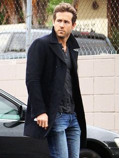 love the pea coat over light wash jeans and the henley