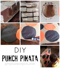 DIY Punch Pinata Tutorial and other Halloween Party Games