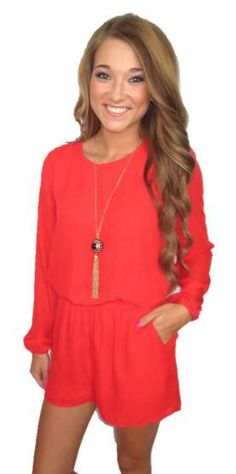 Gameday Romper- Red #back-in-stock #rompers-jumpers