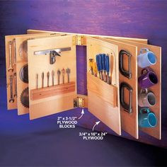 Flip-through tool storage how to - could use as organizer for necklaces, bracelets, earrings with a little modification!!!