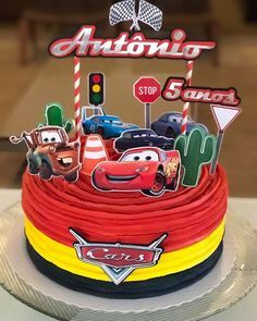 Cars Fiesta Infantil Torta 41 New Ideas Car Themed Parties, Cars Birthday Parties, Birthday Party Decorations, Disney Cars Party, Disney Cars Birthday, Super Cars Images, Auto Party, Car Themes, Cake Decorating