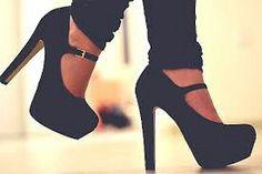 black heels high heels mary jane sexy shoes black platforms shoes heels fashion black pumps with straps black mary jane shoes Cute Shoes, Me Too Shoes, Pretty Shoes, Beautiful Shoes, Awesome Shoes, Gorgeous Heels, You're Beautiful, Plateau Heels, Black Heels
