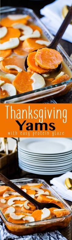 Thanksgiving Yams with Protein Glaze