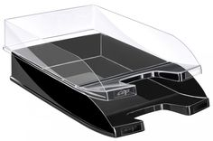 Confectionata din materiale reciclate, rezistenta la impact. Capacitate 450 file (format A4 pana la 240 x 320mm). Dimensiuni: 345 x 260 x 64mm. Are deschidere larga cu acces usor la documente. Se poate stivui vertical sau in trepte.
