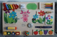 With our busyboard your baby easily be able to develop not only the fine motor skills of hands, but also coordination, sensory abilities, as well as enrich their tactile sensations. Our educational panels are interesting for children from 8 months to 3-4 years, content and images can be different. Size 50 * 76 cm   Dear buyers from USA, Canada. Please that the standard service ($ 40) at the time can take up to 60-80 days. Faster delivery is $ 80, can take up to 40 days.