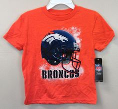 Just $15.99 !! Denver Broncos KIDS T-Shirts AWESOME HELMET GRAPHICS NEW/NWT Asst Sizes NFL #NFLKidsApparel #FootballGamesEveryday